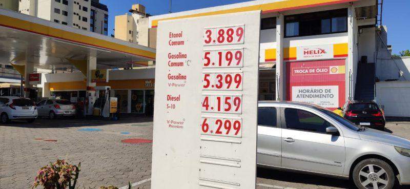 Valor nas bombas aumentou, em média, R$ 0,27 centavos em Blumenau – Foto: Stêvão Limana/NDTV