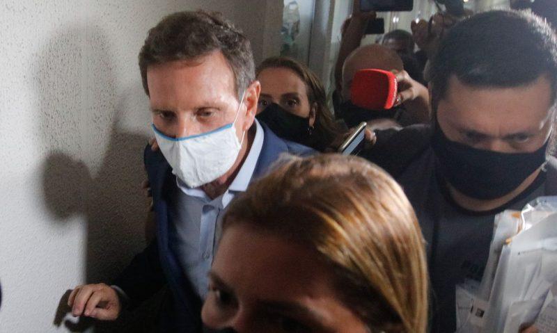O ex-prefeito do Rio de Janeiro, Marcelo Crivella, Crivella é acusado de participar de um esquema de recebimento de propina para beneficiar empresários – Foto: Tânia Rêgo /Agência Brasil/ND