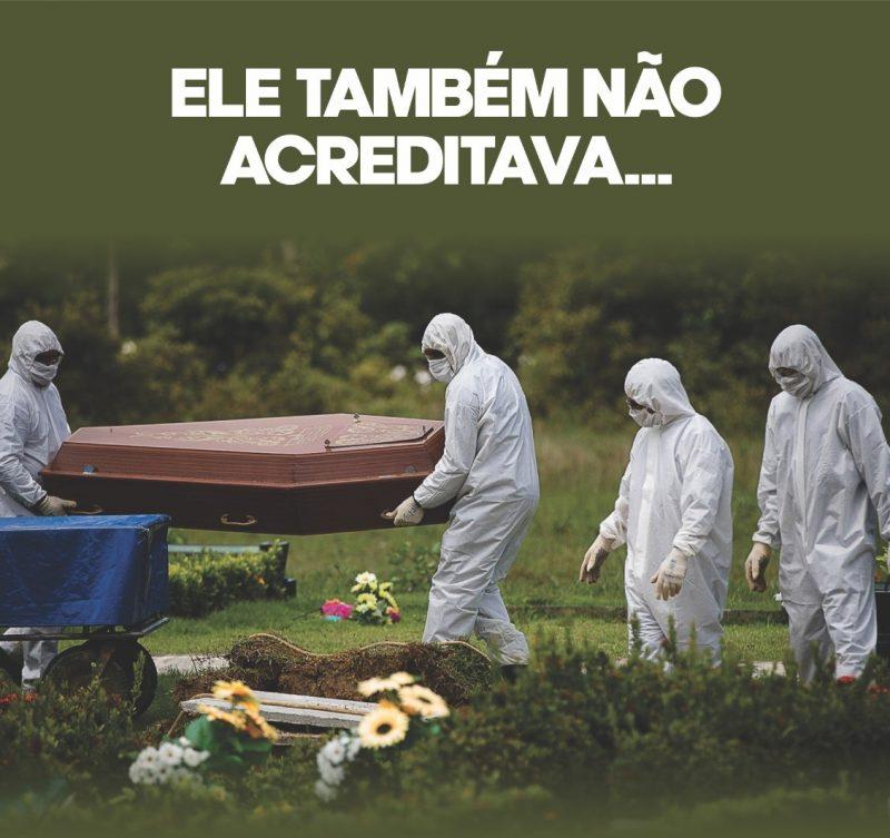 As imagens e frases impactantes demonstram a realidade da Covid-19 em todo o Estado. – Foto: Prefeitura de Xaxim/Divulgação/ND