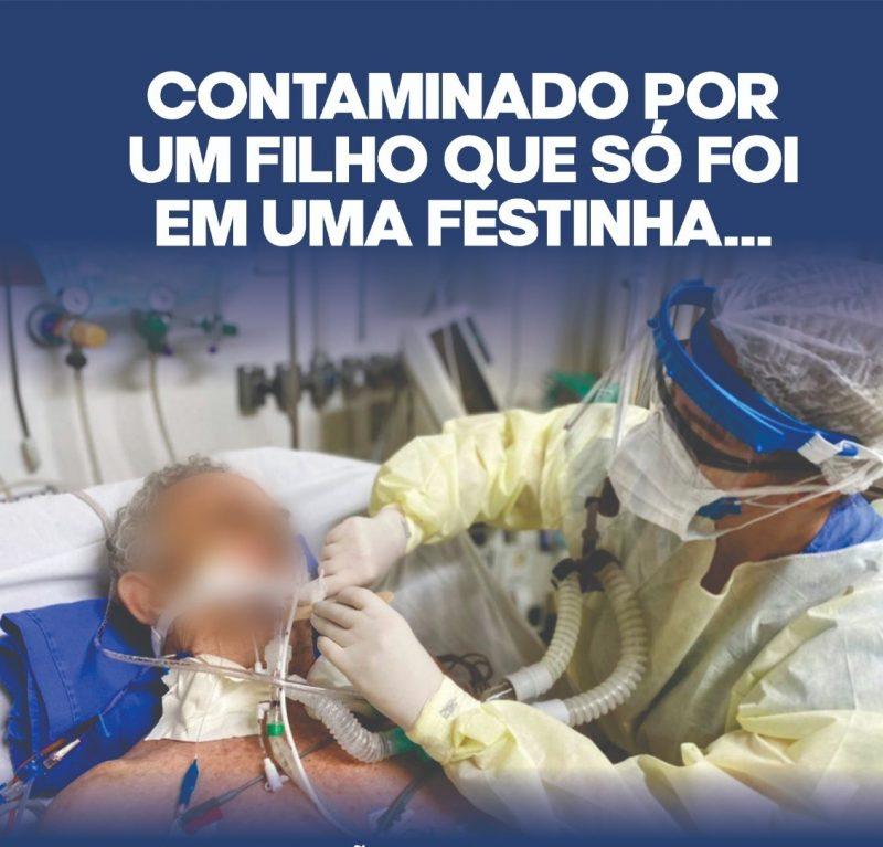 A campanha enfatiza que a pandemia ainda não acabou e cobra que todos façam a sua parte prevenindo a disseminação do vírus. – Foto: Prefeitura de Xaxim/Divulgação/ND