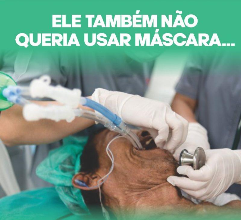 O secretário de Saúde de Xaxim, Uilian Cavalheiro, disse que essa foi uma maneira encontrada de relembrar em uma campanha impactante que a Covid-19 é uma doença grave e leva à morte e causa prejuízos graves. – Foto: Prefeitura de Xaxim/Divulgação/ND