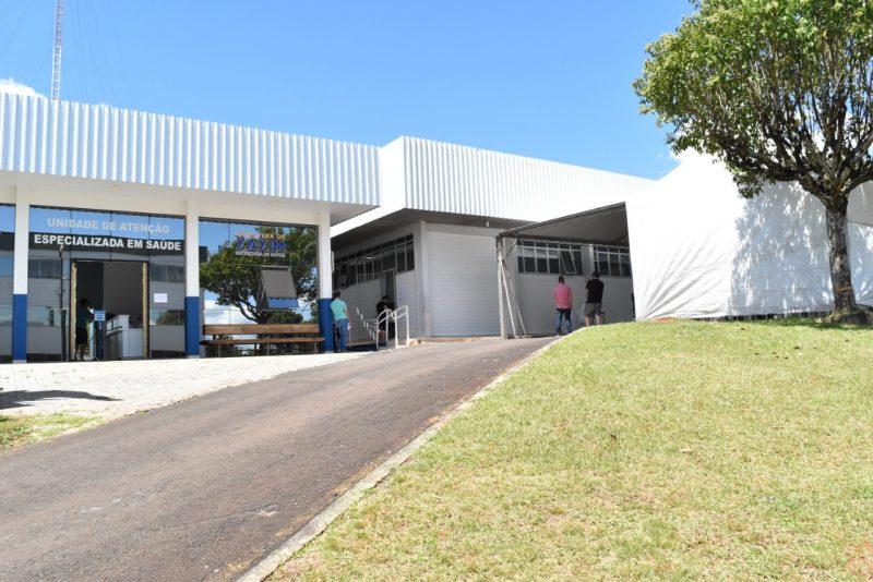 Espaço recebeu mais tendas para melhorar o atendimento. – Foto: Prefeitura de Xaxim/Divulgação/ND