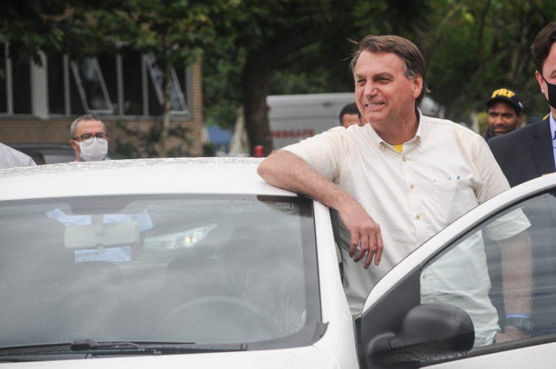 Jair Bolsonaro em Florianópolis, na cerimônia de entrega de 225 veículos a SC