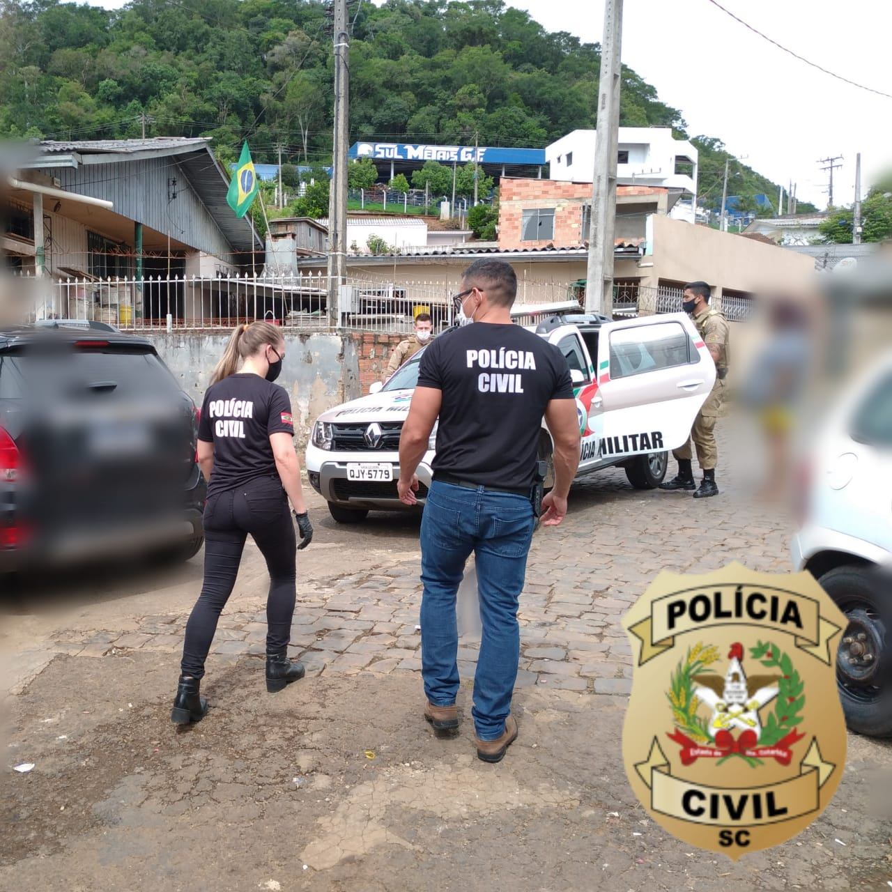 Homem e mulher vão responder pelo crime de tráfico de drogas - PC/Divulgação/ND