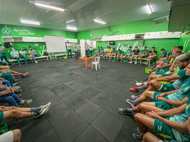 Chapecoense deu início aos preparativos para o ano de 2021. Na tarde desta quarta-feira (10). – Foto: Márcio Cunha/ACF/ND