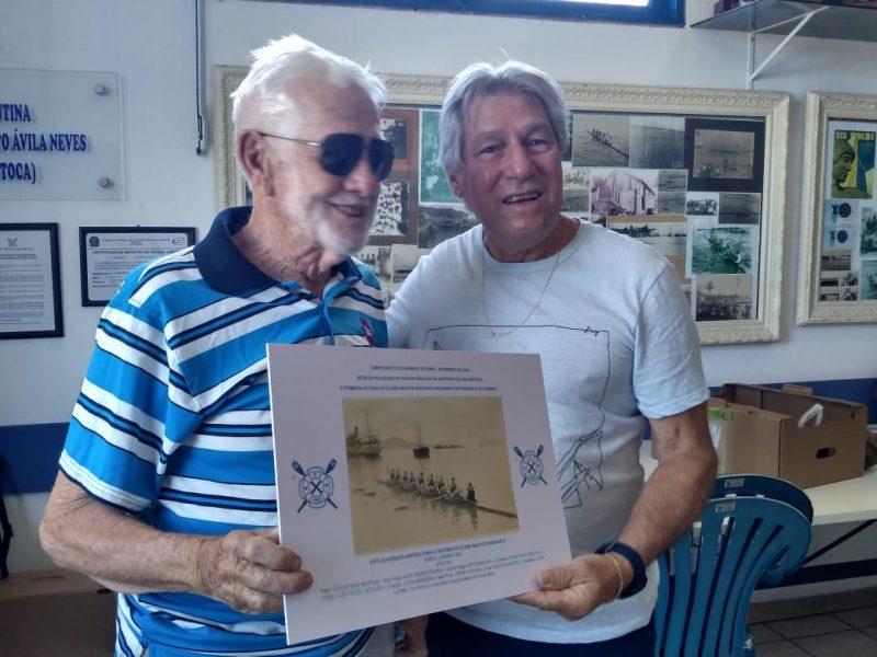 Seu Odilon aos 92 anos é um exemplo do nosso esporte. Muitas conquistas e boas lembranças do remo catarinense. – Foto: Riachuelo/divulgação