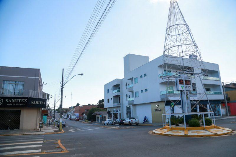 cidade de Lebon Régis no Meio-Oeste de SC