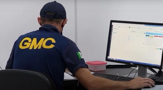 Guarda Municipal em atendimento de denúncias de descumprimento de restrições da Covid-19