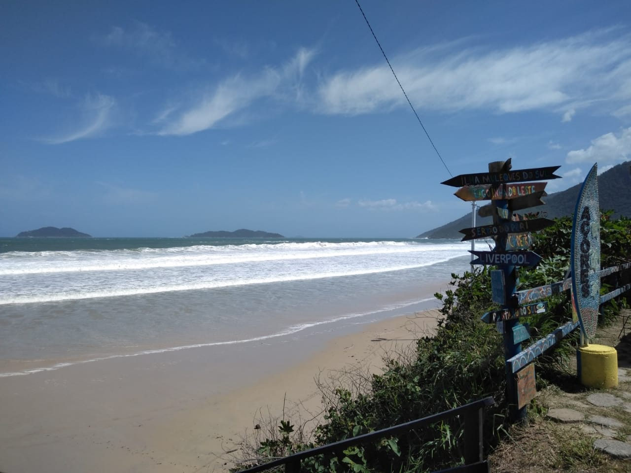 Previsão é de mar agitado, com ondas de altura de até três metros até o fim do dia deste sábado (6) - Andréa da Luz/Divulgação/ND