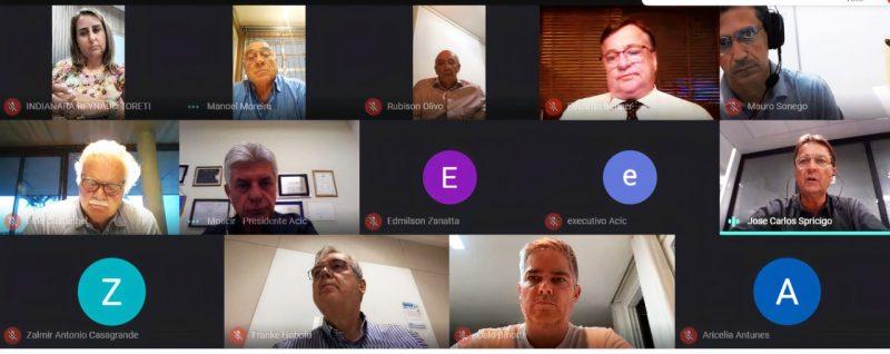 Reunião Diretoria Associação Empresarial de Criciúma – Foto: Deize Felisberto/Divulgação/ND