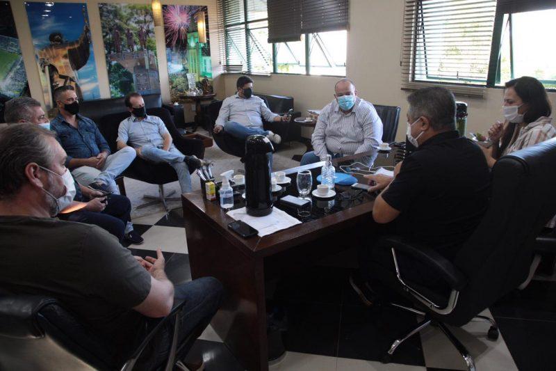 Reuniões entre a Prefeitura de Chapecó e a direção do HRO tem ocorrido com frequência – Foto: Prefeitura de Chapecó/ND