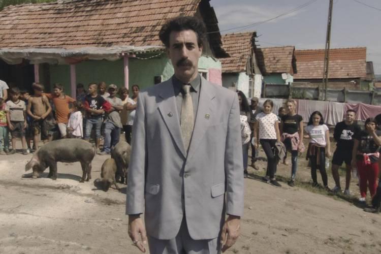 Sacha Borat Cohen interpreta Borat no filme que também deve levar prêmio – Foto: Reprodução