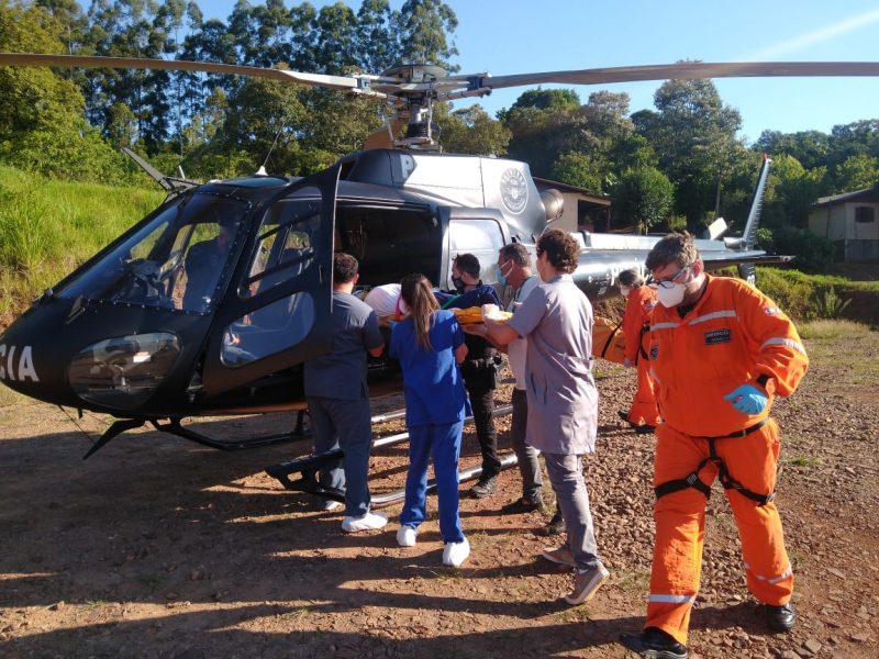 Acidente ocorreu na tarde deste domingo (21). – Foto: SAER/Divulgação/ND