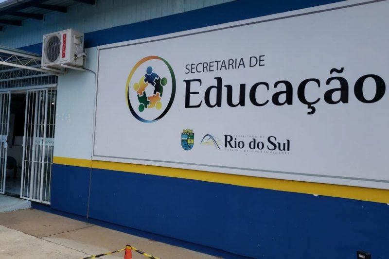 Rio do Sul testa profissionais da educação para Covid-19 – Foto: Divulgação / Prefeitura de Rio do Sul