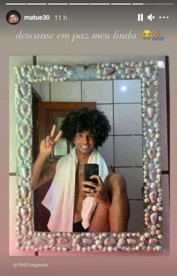 Matuê prestou homenagem ao artista no seu Instagram - Reprodução/Instagram