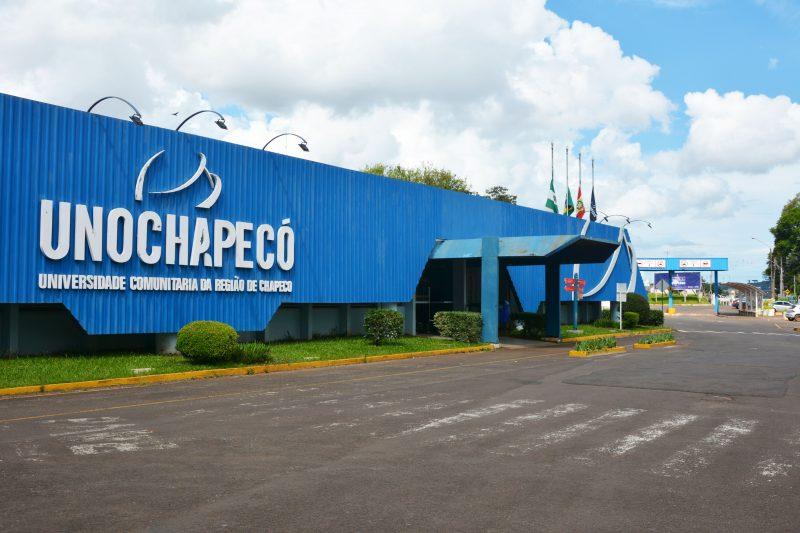 Unochapecó retomará as aulas remotas e síncronas no dia 22 de fevereiro. – Foto: Unchapecó/Divulgação/ND