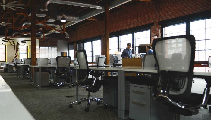 Ambiente de trabalho de uma empresa startup