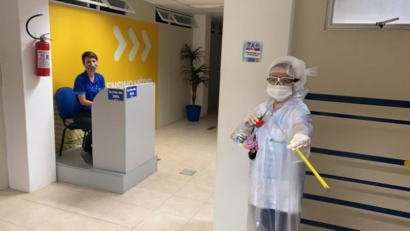 Colégio Energia, no Centro da Capital, retomou as aulas presenciais após quase um ano – Foto: Divulgação/Colégio Energia