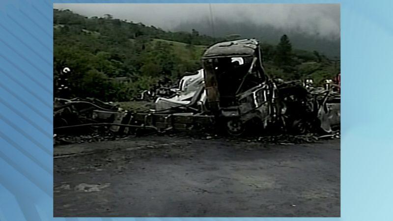 Acidente em 2012 matou sete pessoas no mesmo trecho da Serra – Foto: Arquivo/NDTV