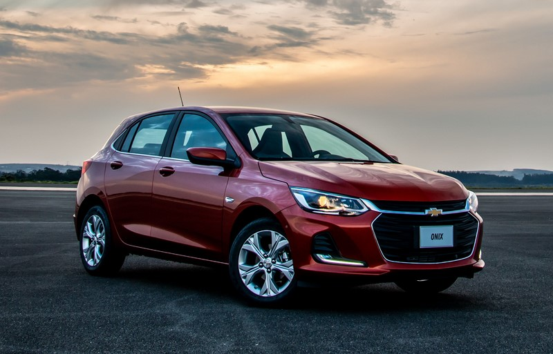 1- Chevrolet Onix: 20.827 unidades - Foto: Divulgação/GM/Garagem 360/ND