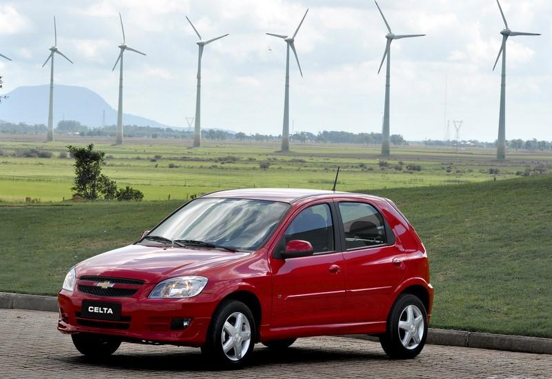 4- Chevrolet Celta: 25.296 unidades - Foto: Divulgação/Chevrolet/Garagem 360/ND
