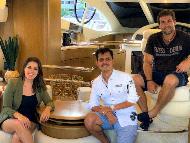Sócios criam empresa de compartilhamento de embarcação de luxo em Balneário Camboriú – Foto: Arquivo Pessoal/Divulgação