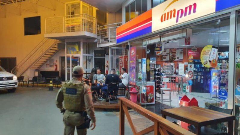 Entre os locais verificados pela força-tarefa, estavam agências bancárias, supermercados e outros locais com grande movimentação de pessoas – Foto: Divulgação/PMSC/ND