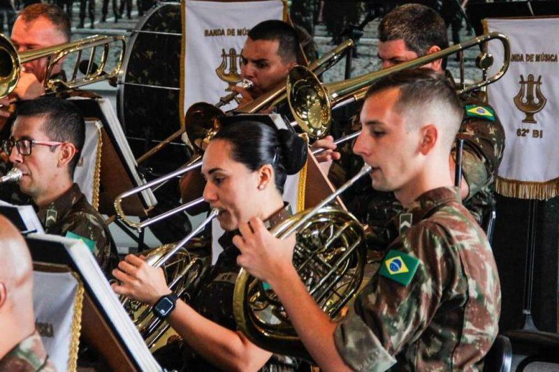 62º Batalhão de Infantaria realiza conserto para homenagear Joinville – Foto: Divulgação/ND