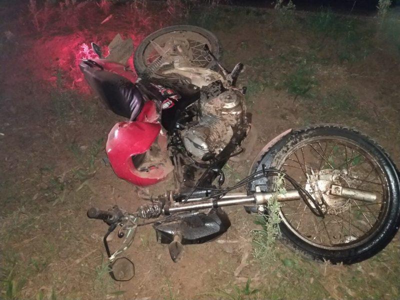 Vítima teria colidido na lateral de um carro no interior da cidade – Foto: Corpo de Bombeiros Militar/Divulgação