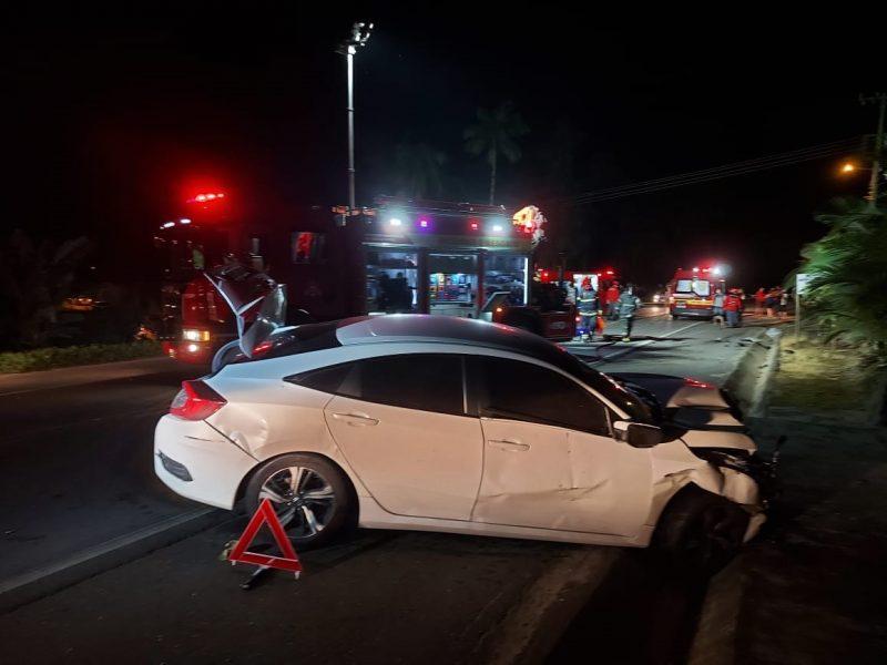 Grave acidente aconteceu na noite desta segunda-feira – Foto: Fábio Junkes/OCP News