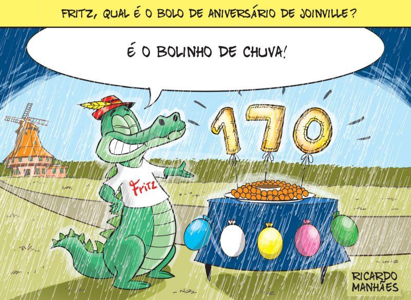 Em Joinville, a comemoração só pode ser com bolinho de chuva! – Foto: Arte/Ricardo Manhães