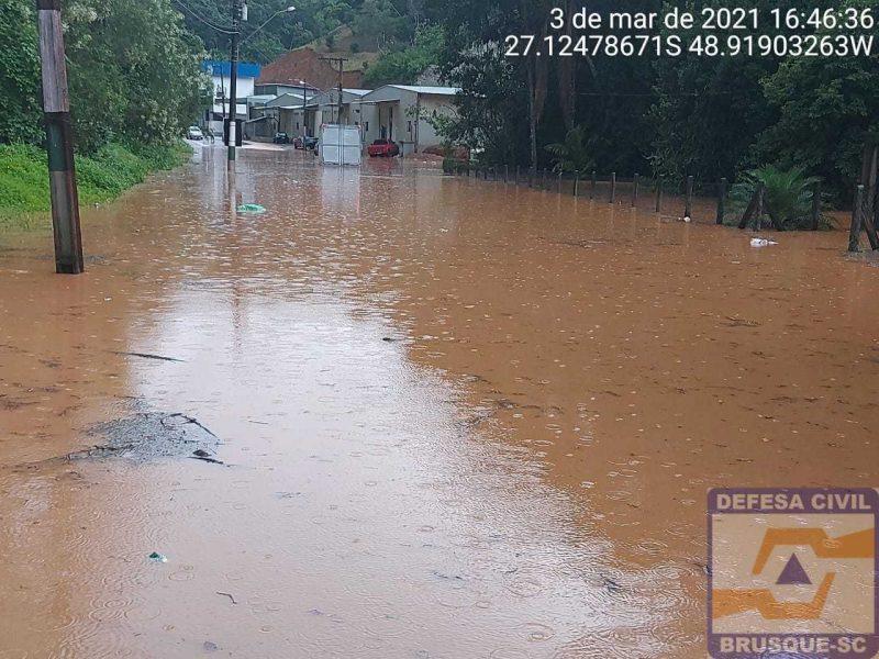 Chuvas em Brusque deixaram estragos em vários pontos da cidade – Foto: Secom Brusque/divulgação