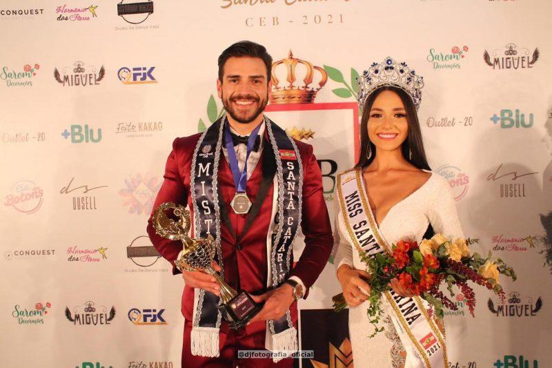 Alisson de Liz e Lara Mateus venceram o concurso estadual e agora concorrem ao Miss e Mister Brasil – Foto: DJ Fotografia