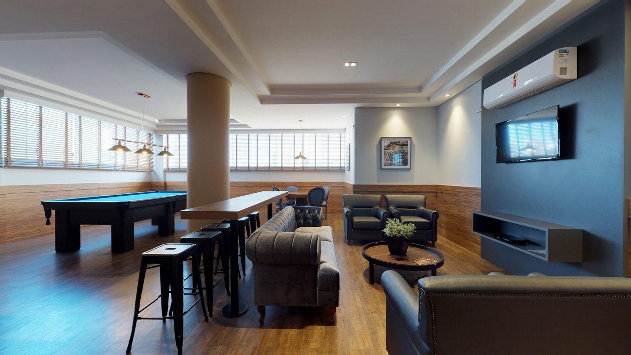 Empreendimentos de grande porte agregam áreas sociais completas, uma extensão para quem opta por apartamentos pequenos - Divulgação/AM Construções