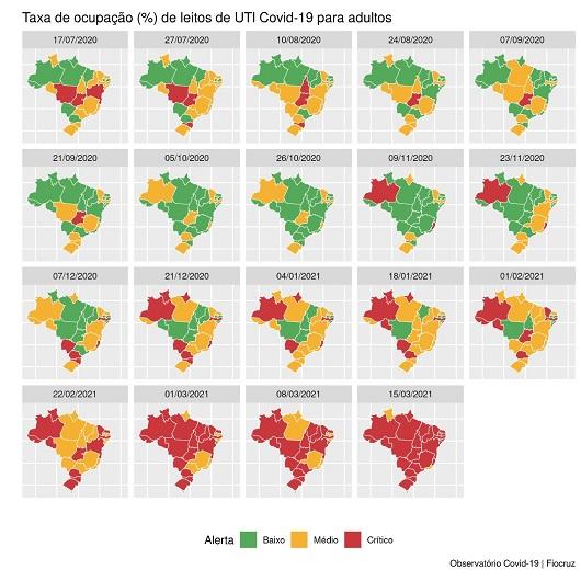 Santa Catarina está há quatro semanal em nível crítico de leitos – Foto: Fiocruz/Divulgação/ND