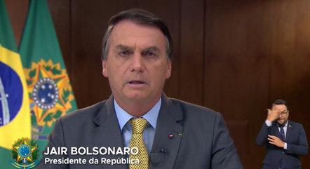 Bolsonaro falou em rede nacional sobre a pandemia