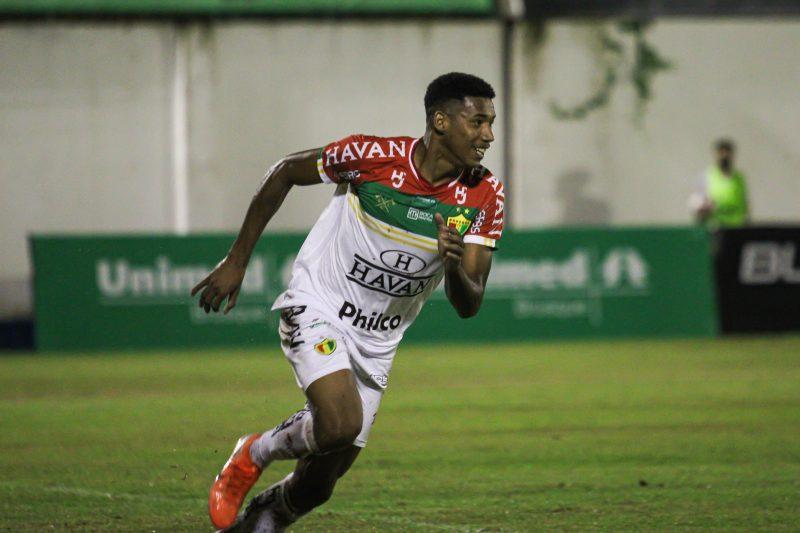 Garcez marcou o primeiro gol da Vitória do Brusque – Foto: Lucas Gabriel Cardoso/Brusque FC
