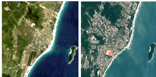 Atualmente, as imagens de satélites mostram 25% de ocupação urbana em toda a Ilha de Santa Catarina. A foto acima refere-se ao bairro Campeche, no sul da Ilha – Foto: Divulgação/ND