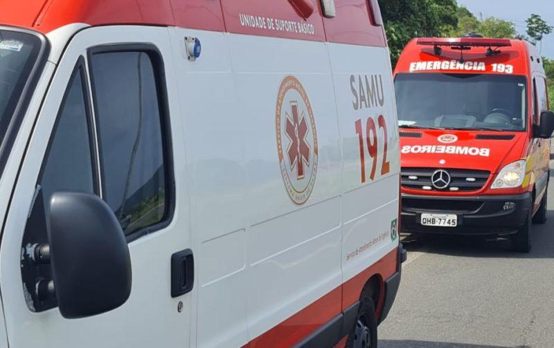 Homem morre após ter a perna arrancada em grave acidente na BR-470 em Navegantes – Foto: Corpo de Bombeiros Militar/Divulgação