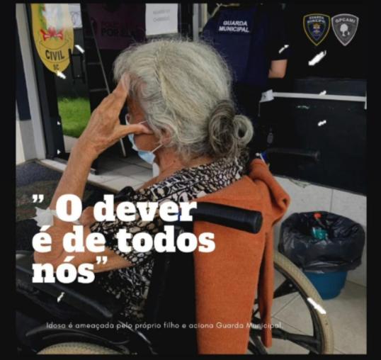 Idosa contou que era ameaçada pelo filho e dependia dos vizinhos para comer – Foto: GMI/Dvivulgação