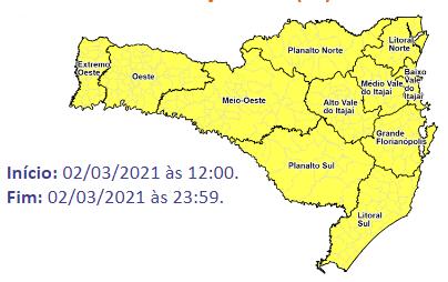 Chuva será registrada em todo o Estado – Foto: Defesa Civil/Divulgação