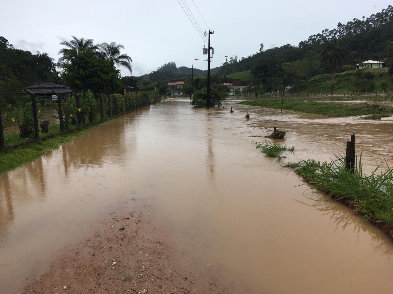Abastecimento de água em Brusque também foi prejudicado por conta das chuvas - Secom Brusque/Divulgação