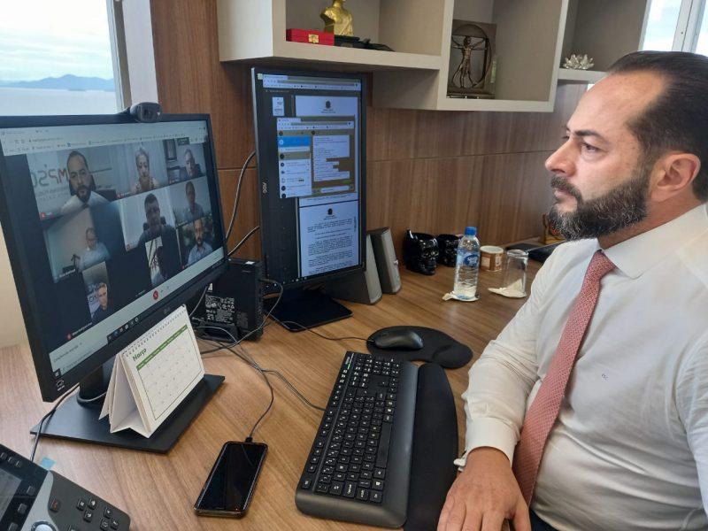 Fernando Comin, procurador-geral de Justiça, fez apelo aos empresários – Foto: Divulgação/MPSC/ND