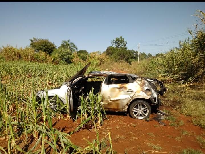 Acidente ocorreu na SC-283, no Distrito de Santo Antônio, em Concórdia. - Corpo de Bombeiros Voluntários de Arabutã/Divulgação/ND