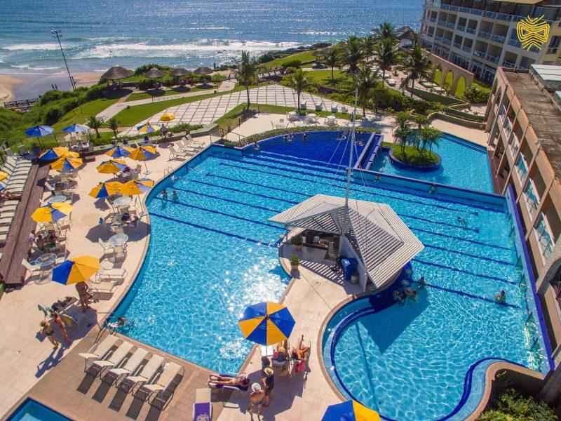 Resort reúne trilhas ecológicas, esportes, aventuras, SPA, nove piscinas, seis restaurantes de alta gastronomia, complexo esportivo, serviços de praia, entre outras estruturas – Foto: Divulgação/ND