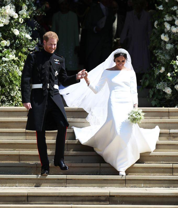 Meghan Markle e Harry em seu casamento – Foto: Divulgação