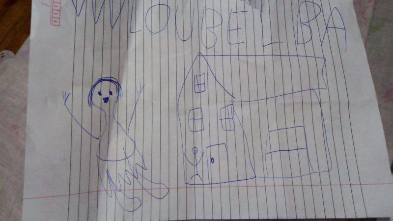 Desenho feito pela filha do casal – Foto: Arquivo pessoal/Reprodução/ND