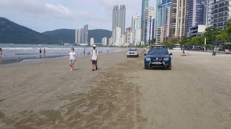 Já nas praias o movimento foi tranquilo durante o fim de semana – Foto: Secom BC/Divulgação