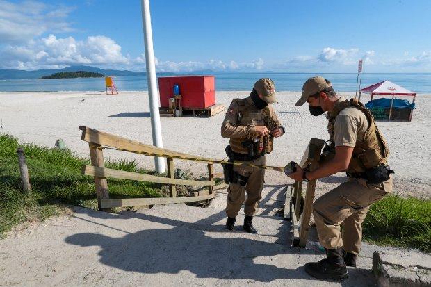 Fiscalização da PMSC nas praias de Santa Catarina