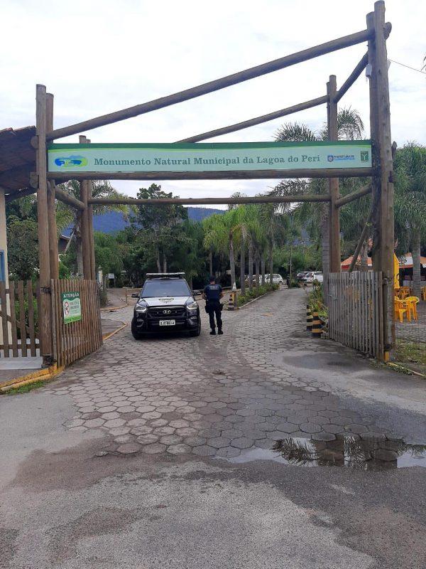 Fiscalização também foi realizada na Lagoa do Peri, em Florianópolis – Foto: GMF/Divulgação/ND